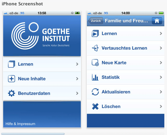 Der Goethe Vokabeltrainer - Deutsch Apps