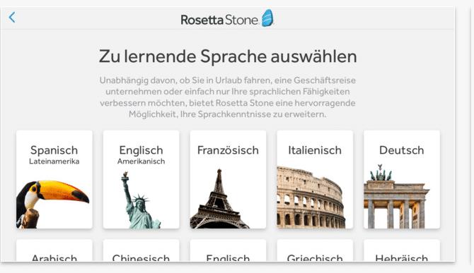 Rosetta Stone App zum Deutsch Lernen - Deutsch Apps