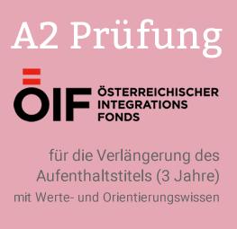Deutsch A2 Prüfung ÖIF