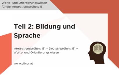Integrationsprüfung: Bildung und Sprache