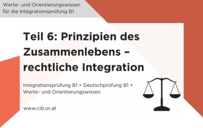 Integrationsprüfung Fragen: Prinzipien des Zusammenlebens – Rechtliche Integration