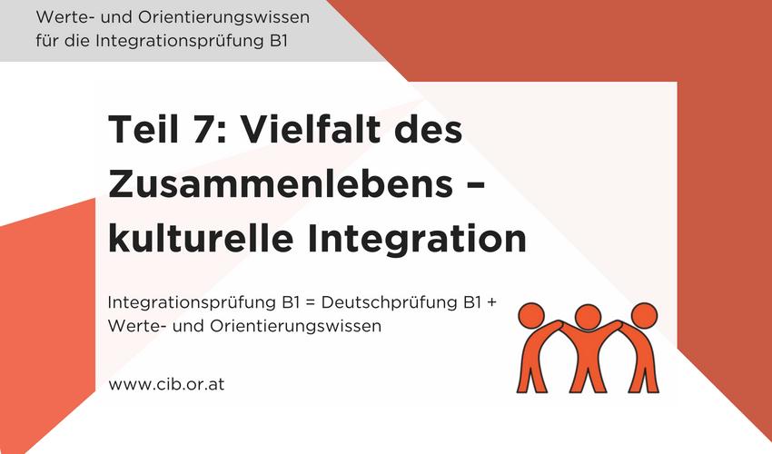 Integrationsprüfung Fragen: Kulturelle Integration